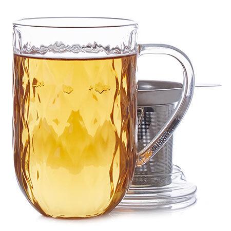 Tasse Nordic en verre à motif en relief