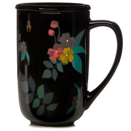 Color Changing Nordic Mug Bones and Floral Black