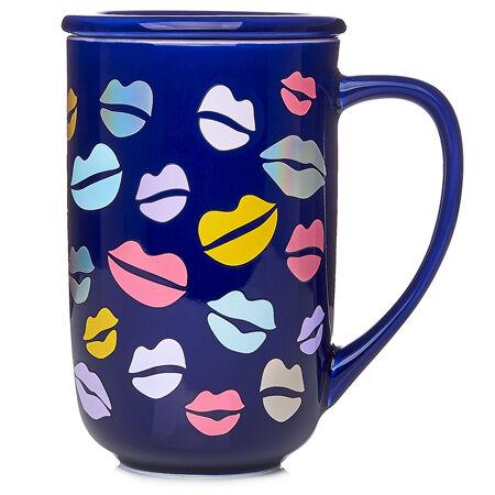 Kisses Navy Color Changing Nordic Mug