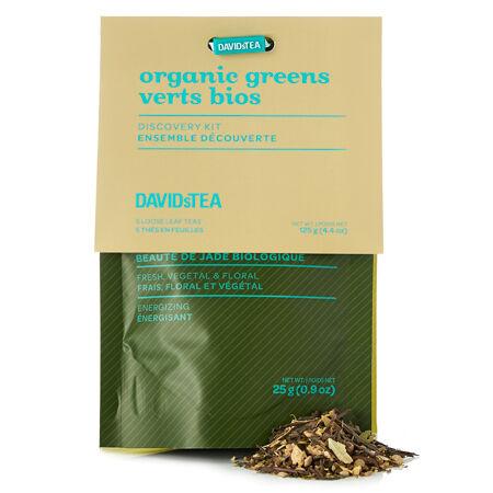Organic greens tea sampler