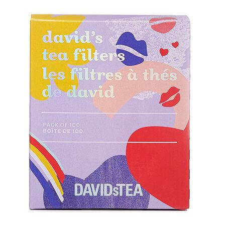 Les filtres à thé de David Bisous – paquet de 100