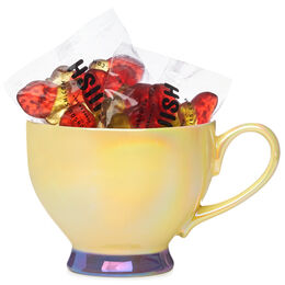 Ensemble tasse jaune et bonbons gourmet Squish