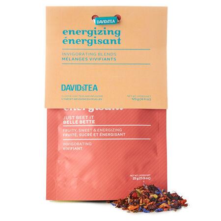 Ensemble dégustation de thés Énergisants