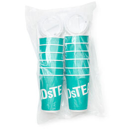 Hot cups and lids (pack of 12)