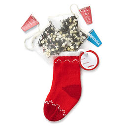 Candy Cane Crush Knitted Stocking