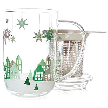 Winter Village Glass Nordic Mug