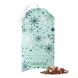 Pomegrateful Tea-Filled Gift Tag
