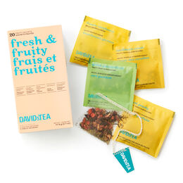 Fresh & Fruity Tea Sachet Variety Pack of 20