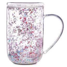 Double Walled Glass Nordic Mug Fantasy Confetti