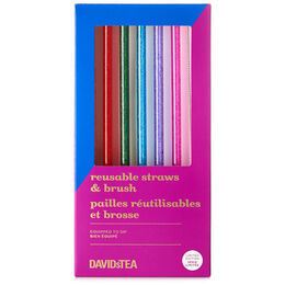 Reusable Tritan Straw & Brush Set Confetti