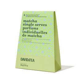 Portions individuelles de Matcha au bleuet