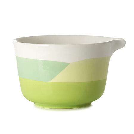Geometric Artisanal Matcha Bowl with Spout