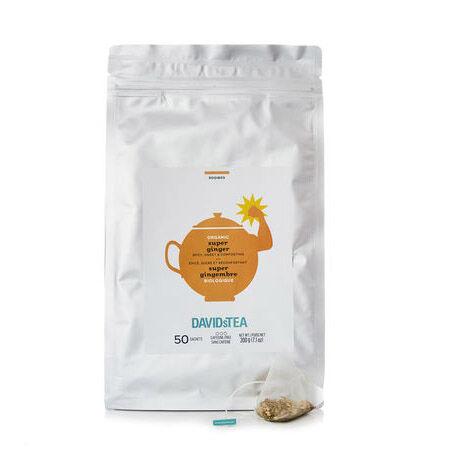Sachets Super gingembre biologique paquet de 50