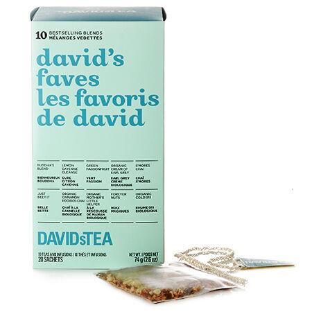 Boîte de 20 sachets de thés assortis Les favoris de David