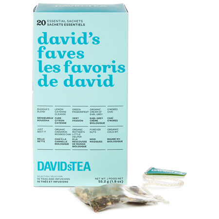 David's Faves Tea Sachet Variety Pack of 20