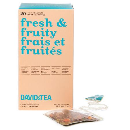 Boîte de 20 sachets de thés assortis Frais et fruités