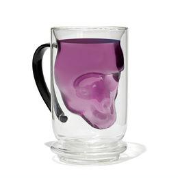 Double Walled Glass Nordic Mug Skull