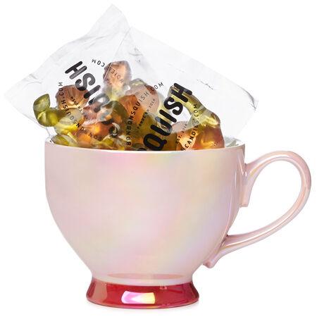 Ensemble tasse rose et bonbons gourmet Squish