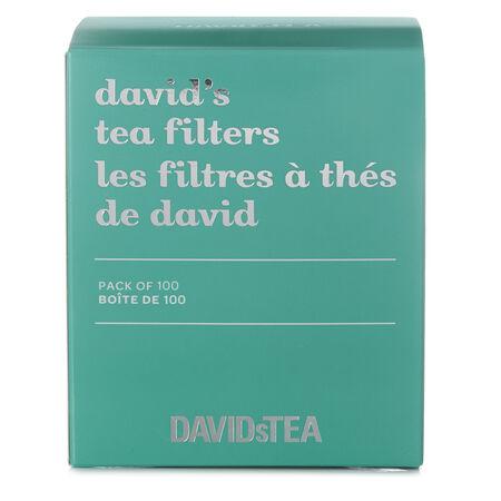 Les filtres à thé de David paquet de 100