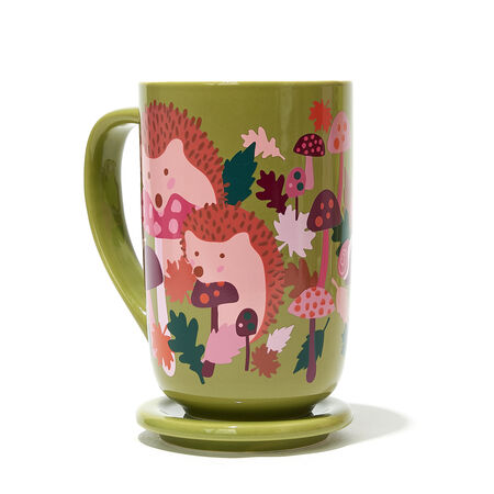 Green Hedgehog Colour Changing Nordic Mug