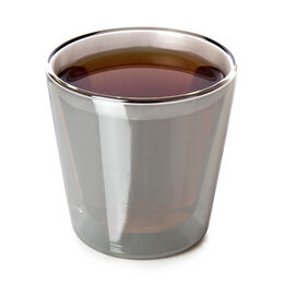 Double Walled Nevis Glass Cup Gunmetal