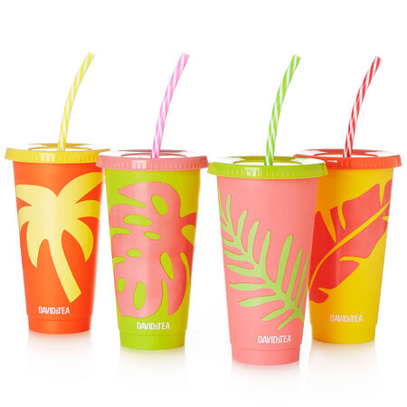 Colour Changing Tropical Cold Cups - Set of 4