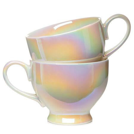 Opalescent Bloom Teacups Set of 2