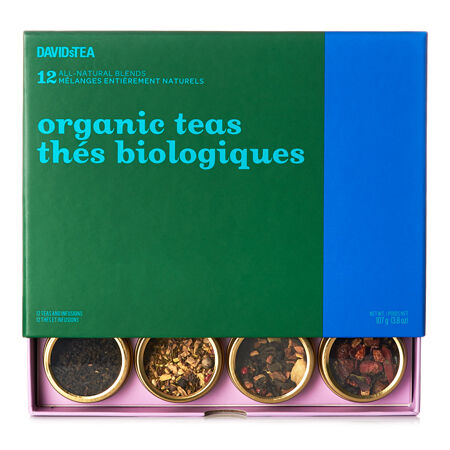 Coffret dégustation de 12 thés Thés biologiques