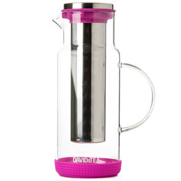 Glass Pitcher with Silicone Fuchsia