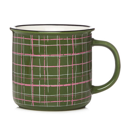 Plaid Olive Campfire Mug