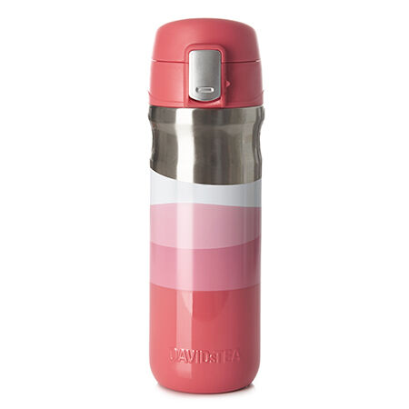Big Stripe Lock Top Travel Mug