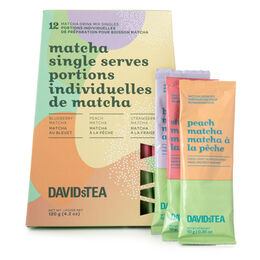 Portions individuelles de matcha - saveurs assorties