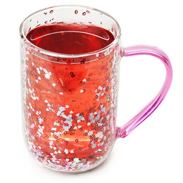 Double Walled Glass Nordic Mug Kisses Confetti