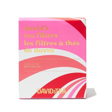 Boîte de 100 filtres à thé de David canne de bonbon
