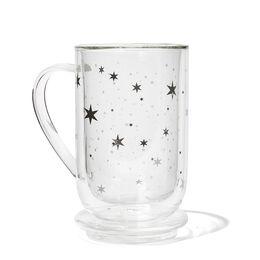 Double Walled Glass Nordic Mug Stars