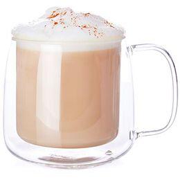 Double Walled Glass Latte Mug