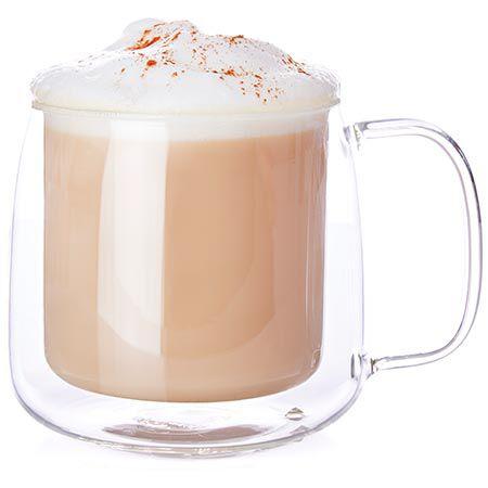 Tasse à latte en verre à double paroi