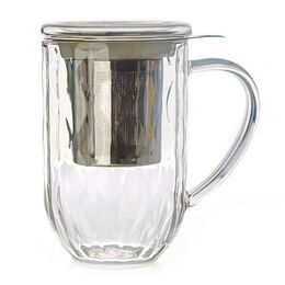 Nordic Weave Textured Glass Mug