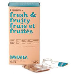Boîte de thés assortis en sachet Frais et fruités