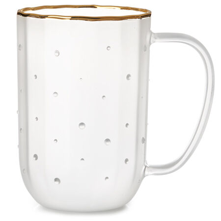 Nordic Mug Glass Dots & Fluting