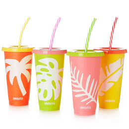 Colour Changing Cold Cups (set of 4) Tropical