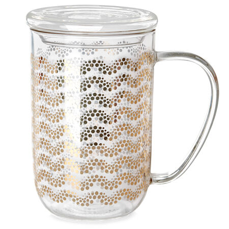 Gold Garland Glass Nordic Mug
