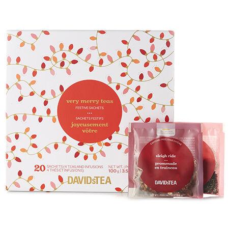 Mini-coffret de sachets de thé Joyeusement vôtre