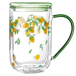 Double Walled Nordic Mug Glass Lemons