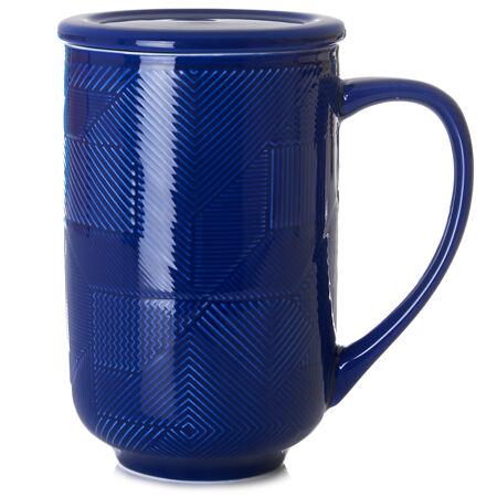Sapphire Mosaic Textured Nordic Mug