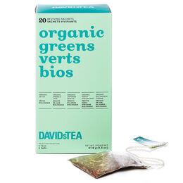 Organic Greens Tea Sachet Variety Pack of 20
