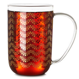 Nordic Mug Glass Gold Garland