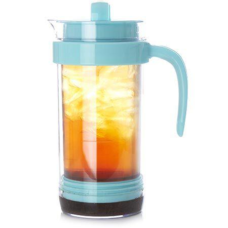 Aqua Blue Iced Tea Pitcher Press
