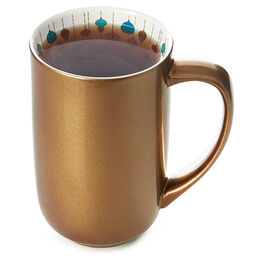 Nordic Mug Ornament Gold Shine