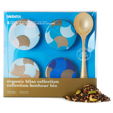 Organic Bliss Collection Mini Tin Gift Box with Spoon